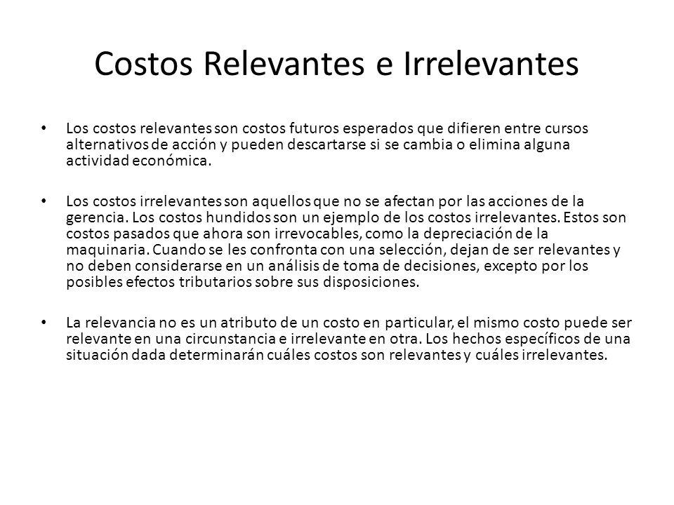 Costos Relevantes e Irrelevantes