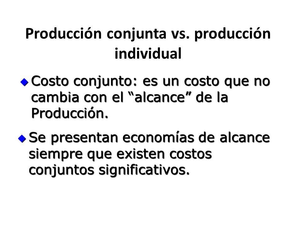 Producción conjunta vs. producción individual
