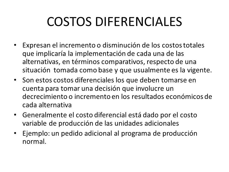 COSTOS DIFERENCIALES