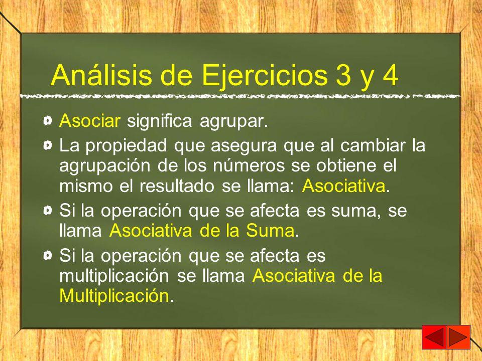Análisis de Ejercicios 3 y 4