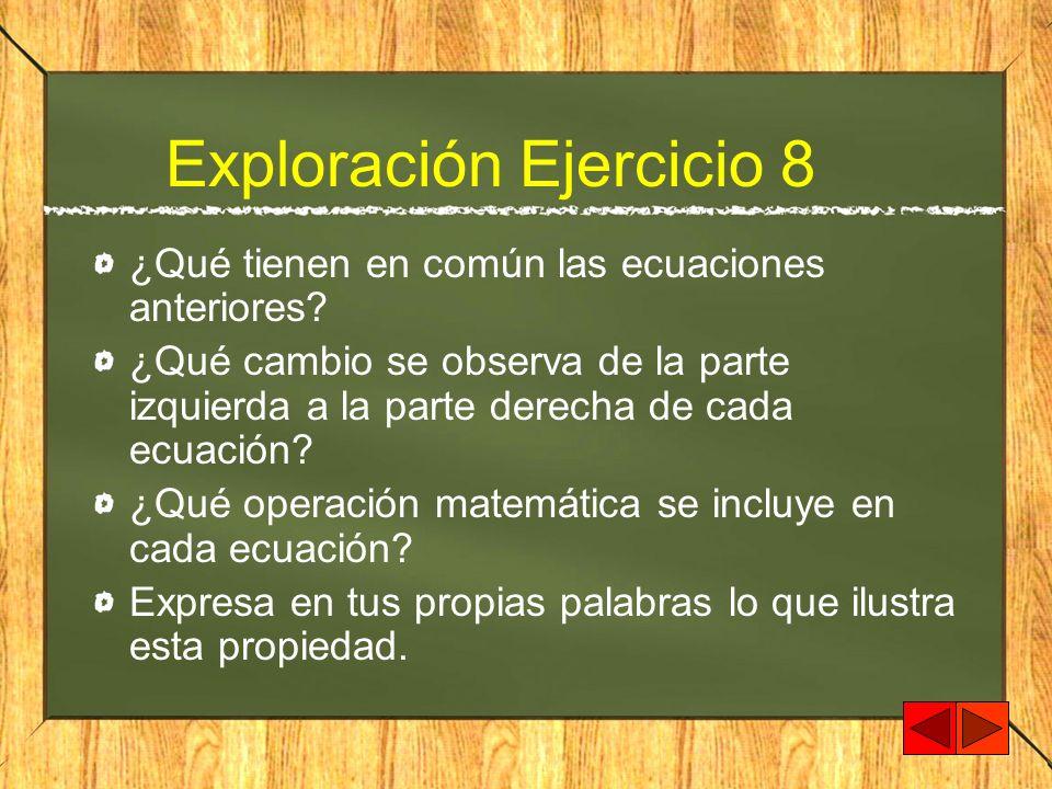 Exploración Ejercicio 8