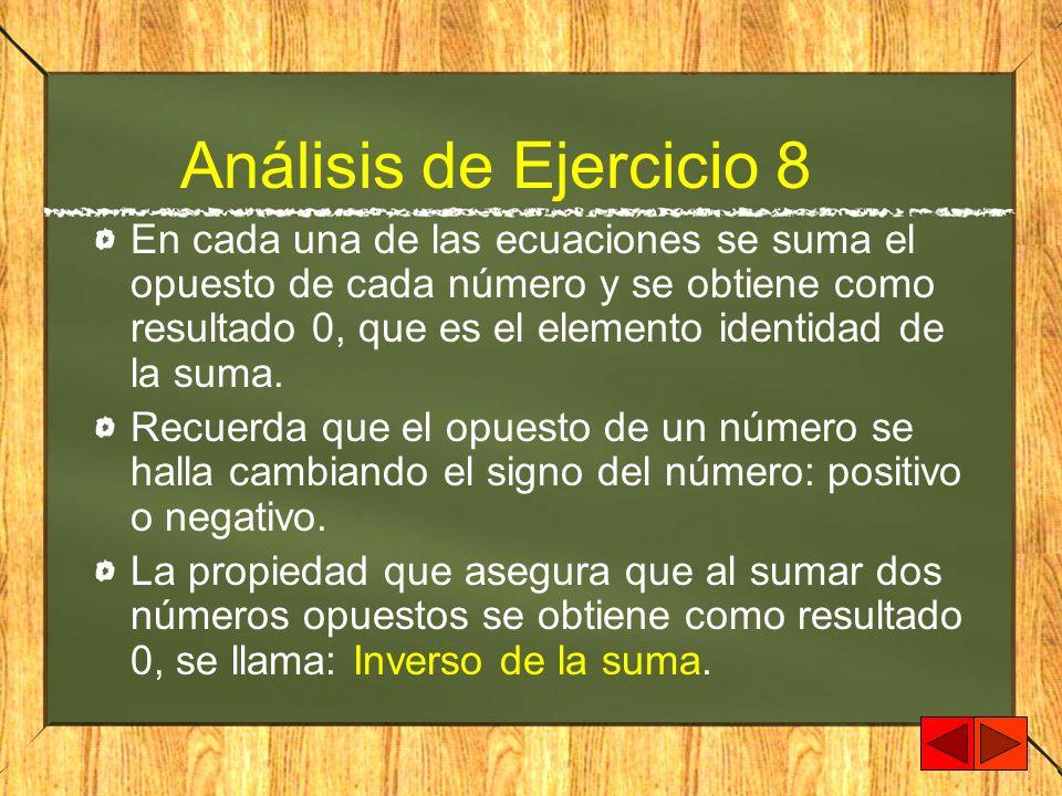 Análisis de Ejercicio 8