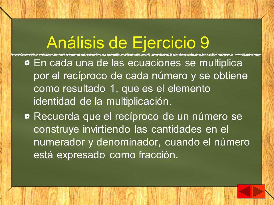 Análisis de Ejercicio 9