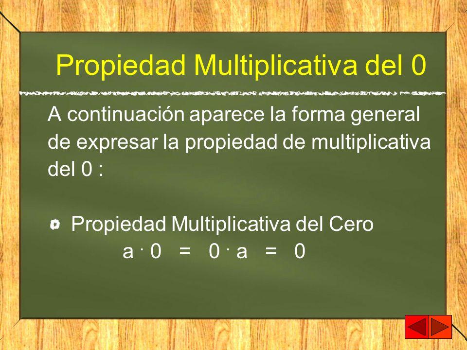 Propiedad Multiplicativa del 0