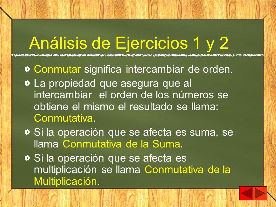 Análisis de Ejercicios 1 y 2