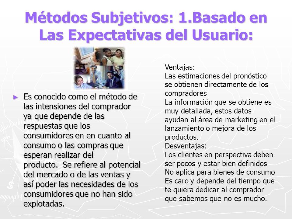 Métodos Subjetivos: 1.Basado en Las Expectativas del Usuario: