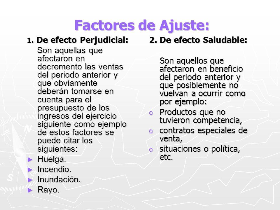 Factores de Ajuste: 2. De efecto Saludable: