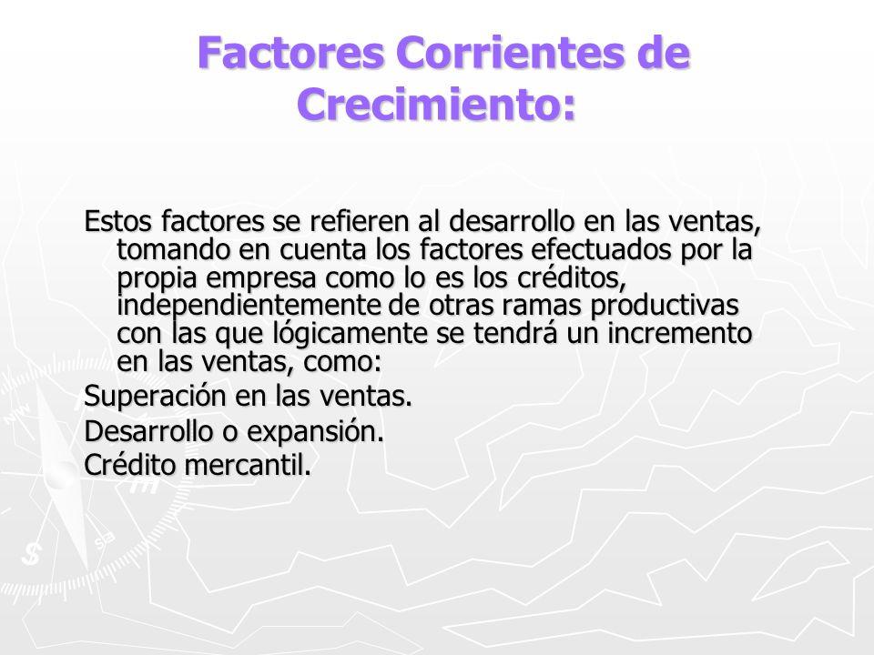 Factores Corrientes de Crecimiento: