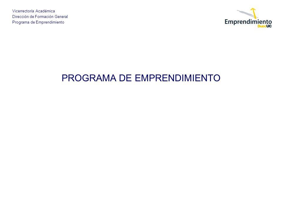 PROGRAMA DE EMPRENDIMIENTO