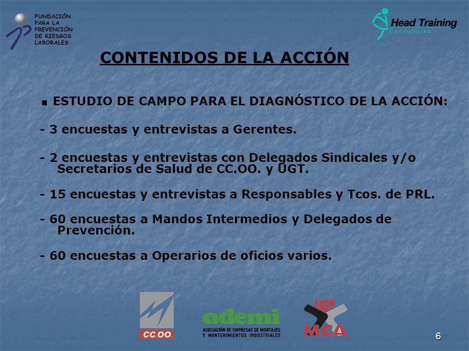 CONTENIDOS DE LA ACCIÓN