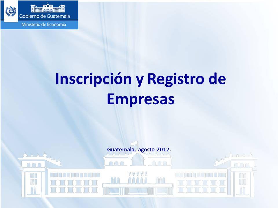 Inscripción y Registro de Empresas