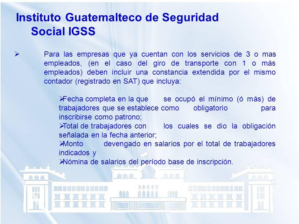 Instituto Guatemalteco de Seguridad Social IGSS