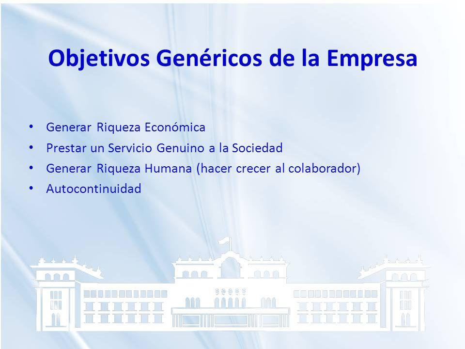 Objetivos Genéricos de la Empresa
