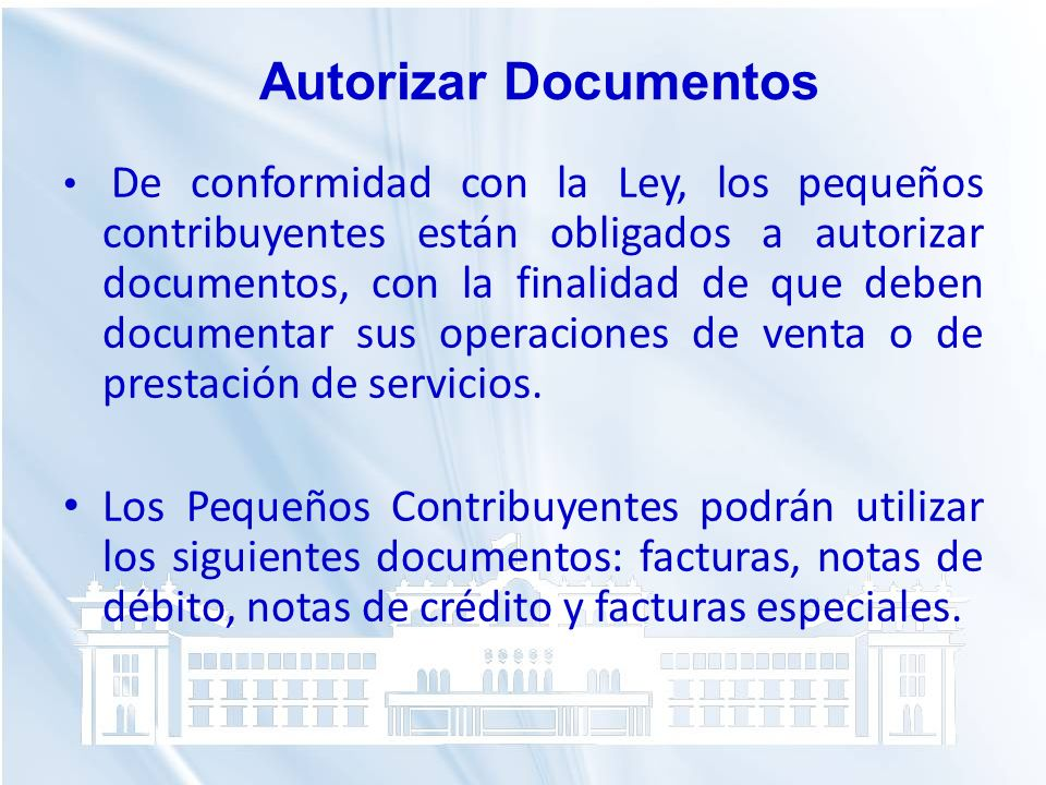 Autorizar Documentos