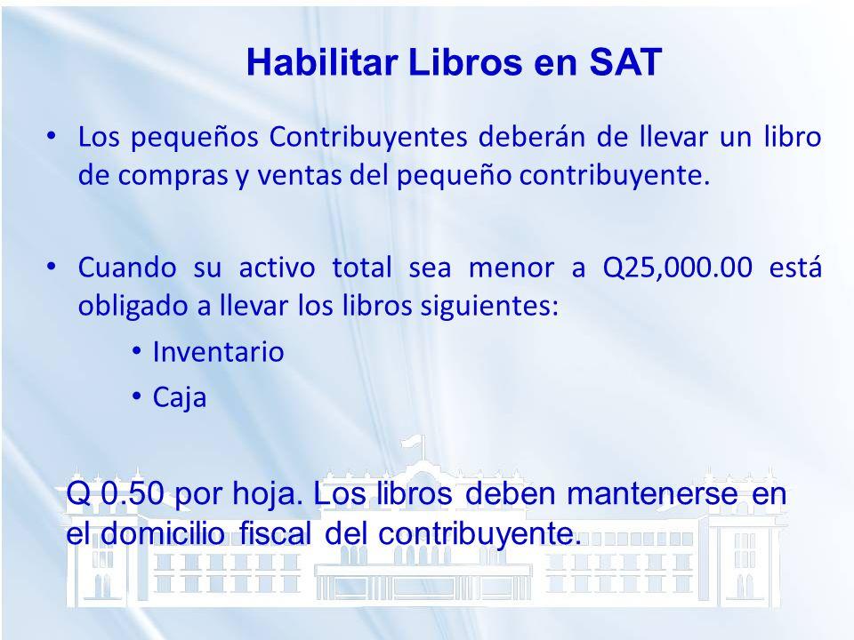 Habilitar Libros en SAT