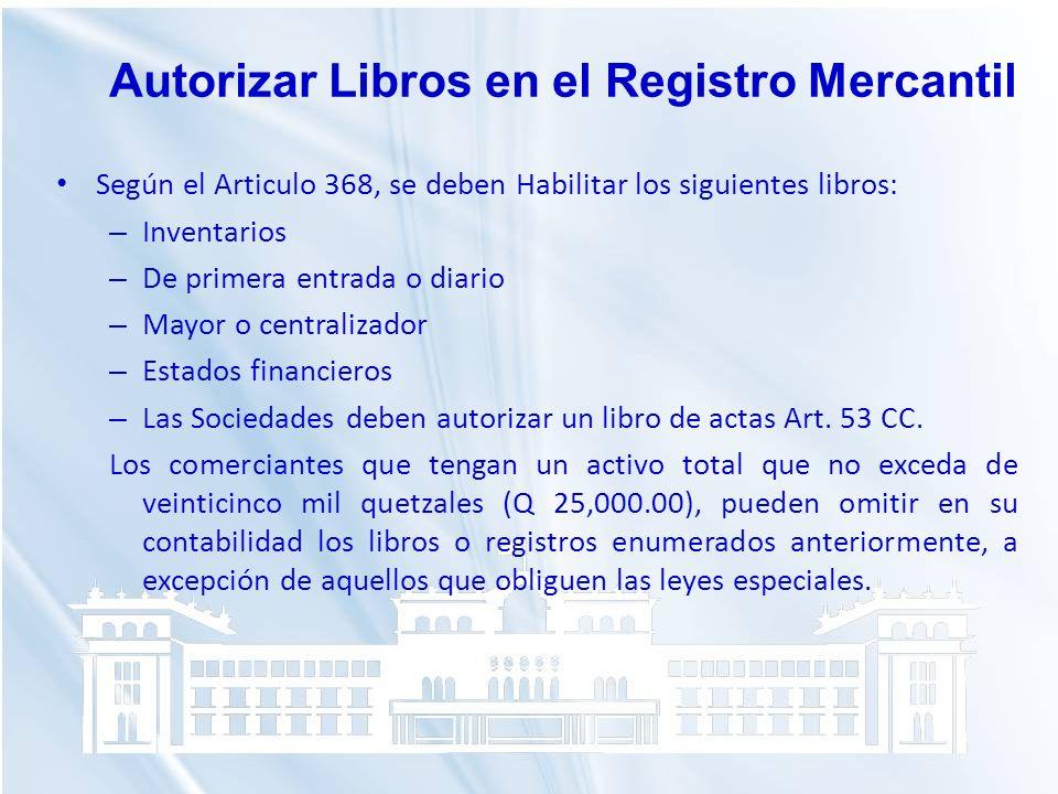 Autorizar Libros en el Registro Mercantil