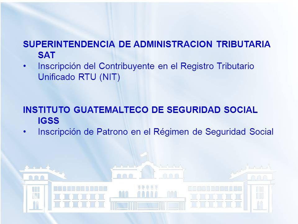 SUPERINTENDENCIA DE ADMINISTRACION TRIBUTARIA SAT