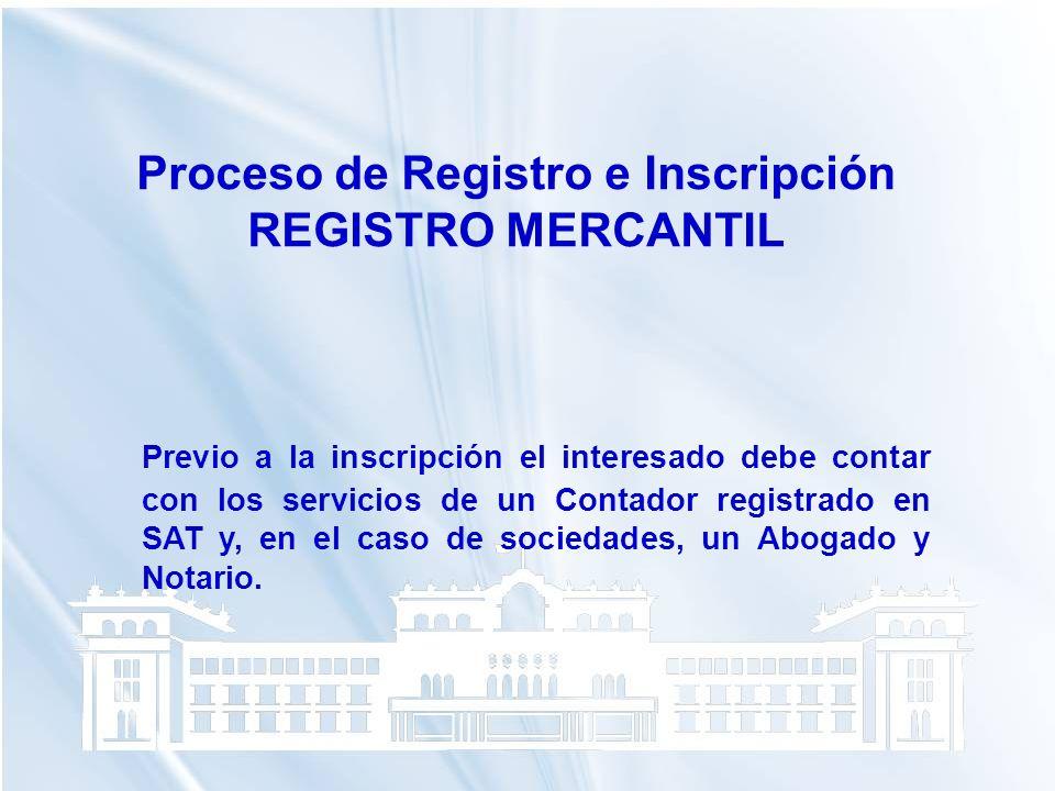 Proceso de Registro e Inscripción