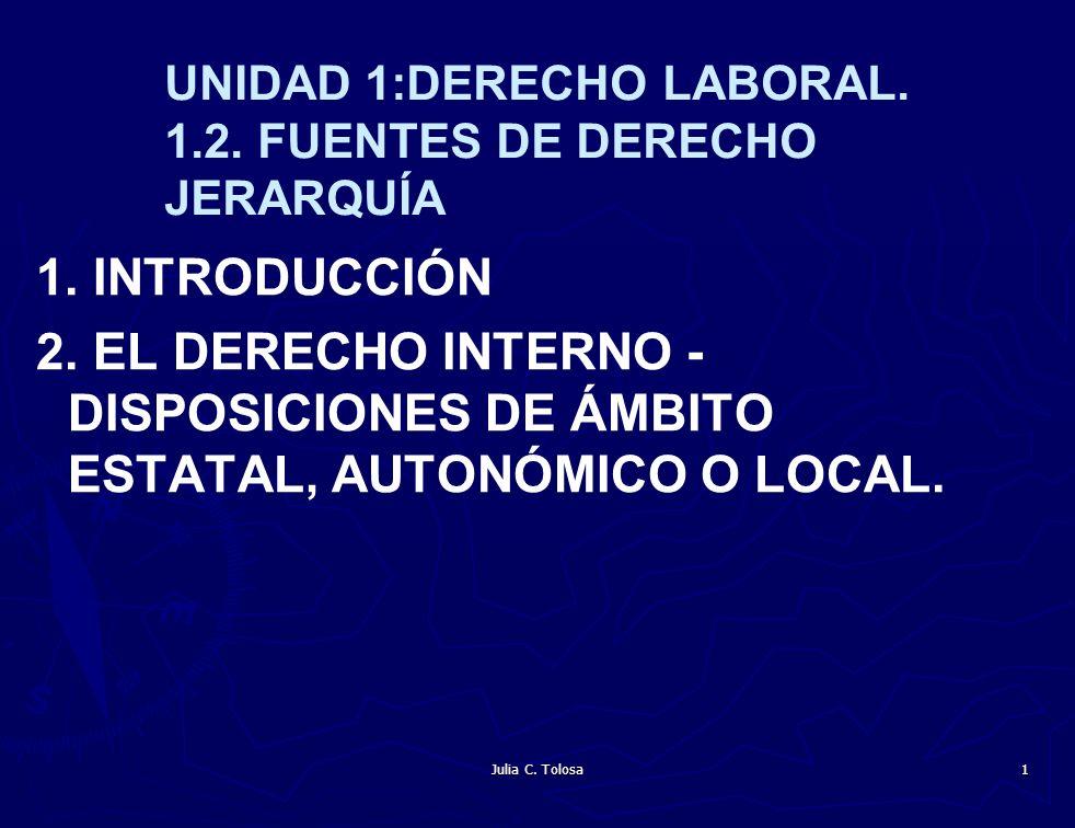 UNIDAD 1:DERECHO LABORAL. 1.2. FUENTES DE DERECHO JERARQUÍA
