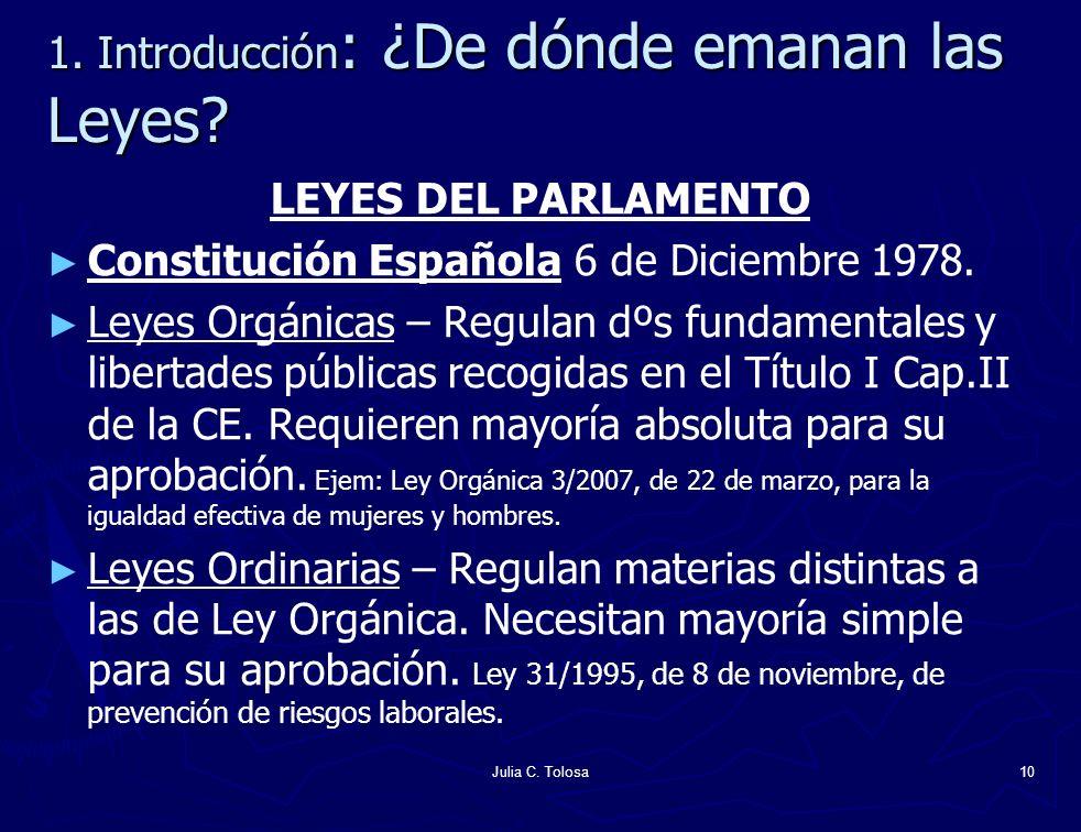 1. Introducción: ¿De dónde emanan las Leyes