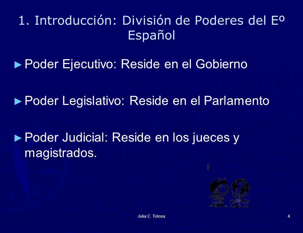 1. Introducción: División de Poderes del Eº Español