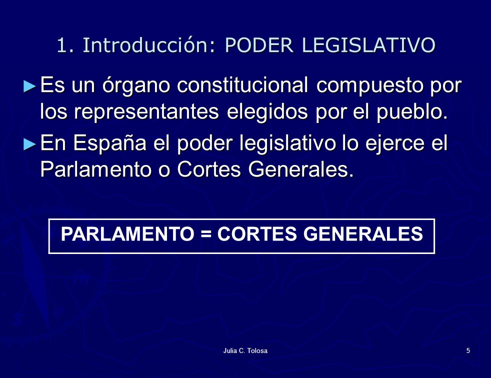 1. Introducción: PODER LEGISLATIVO