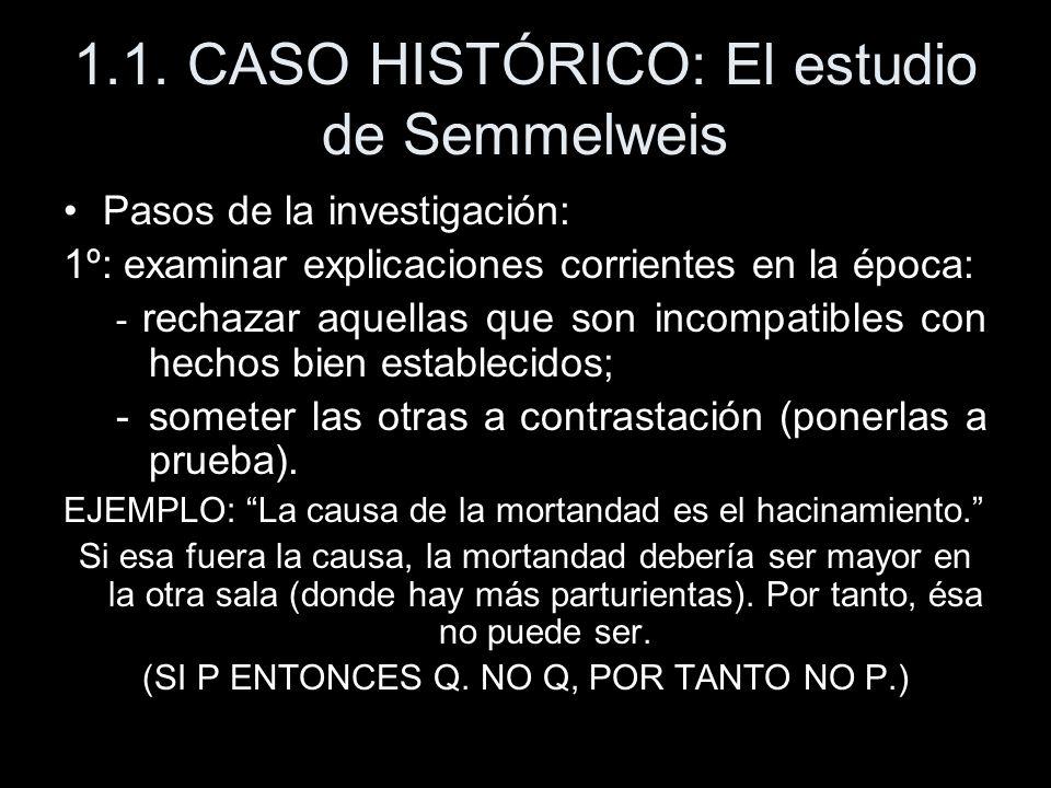1.1. CASO HISTÓRICO: El estudio de Semmelweis