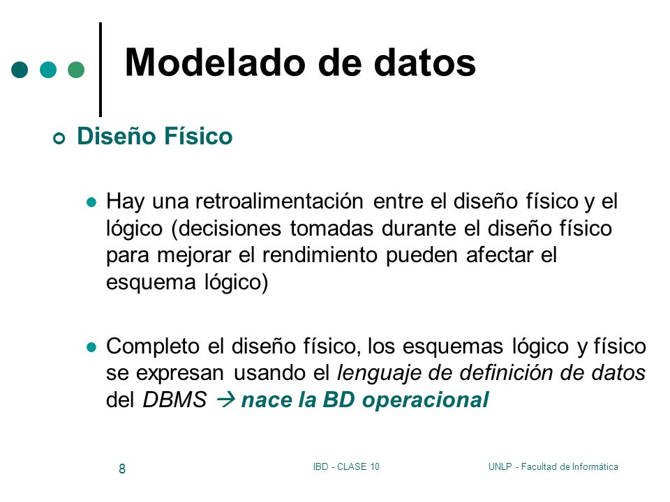 Modelado de datos Diseño Físico