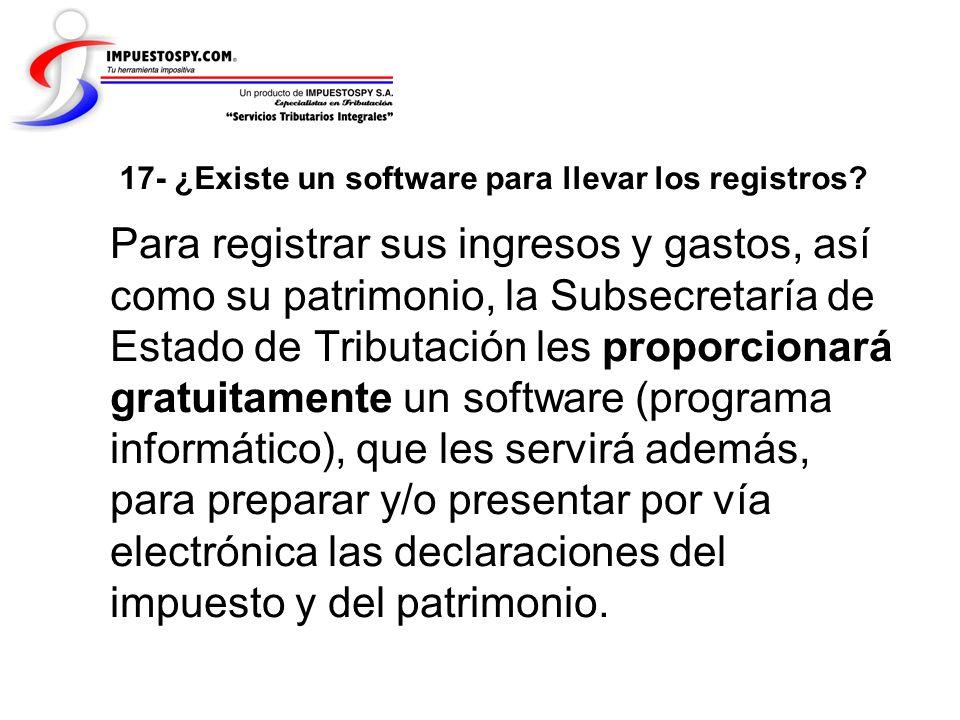 17- ¿Existe un software para llevar los registros