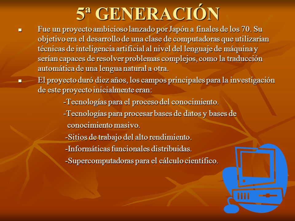 5ª GENERACIÓN