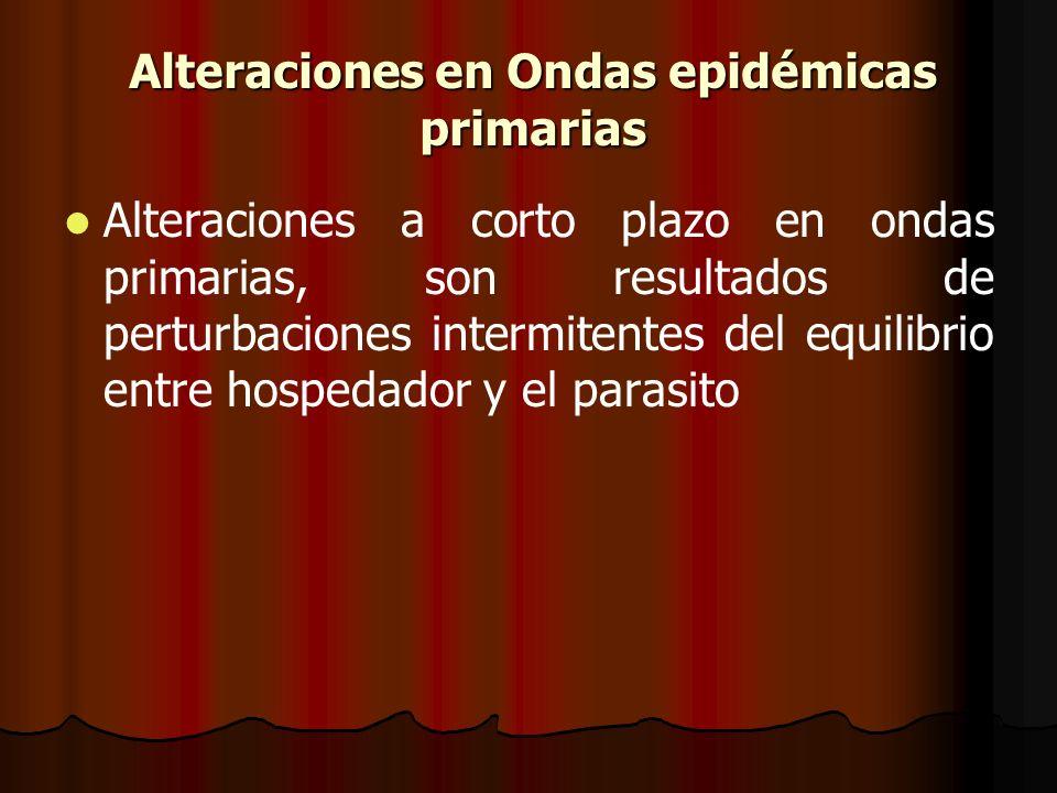 Alteraciones en Ondas epidémicas primarias