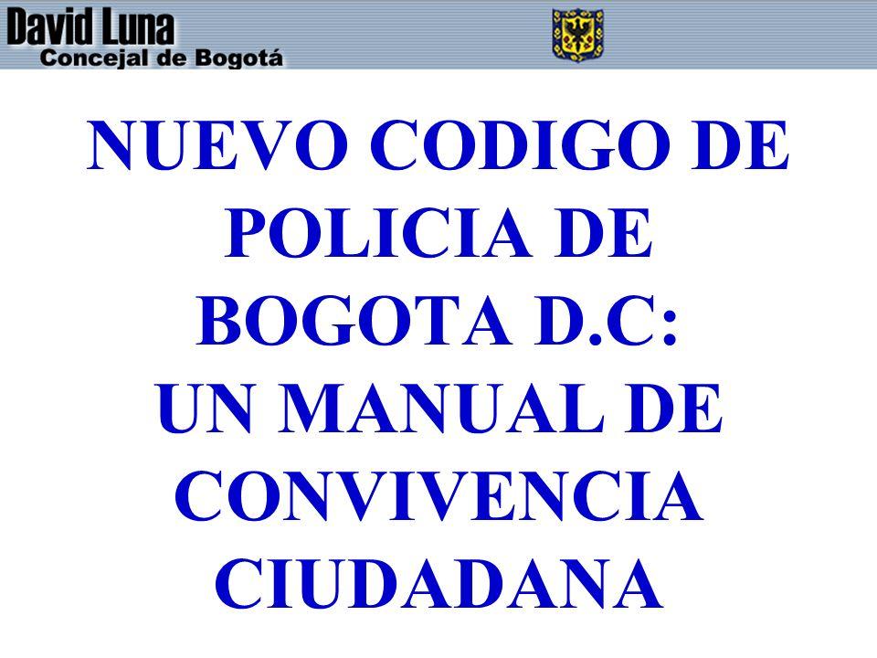 NUEVO CODIGO DE POLICIA DE BOGOTA D