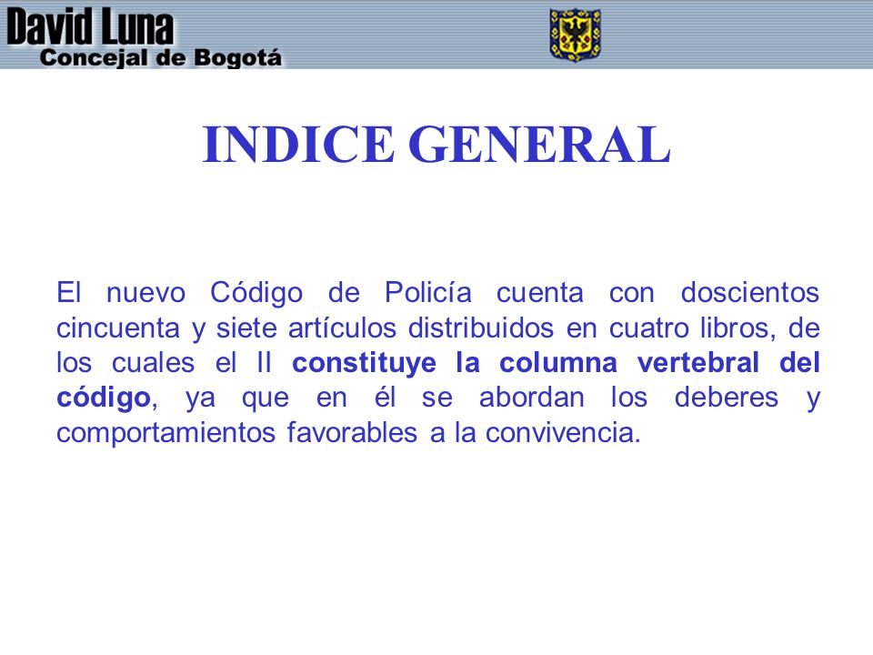 INDICE GENERAL