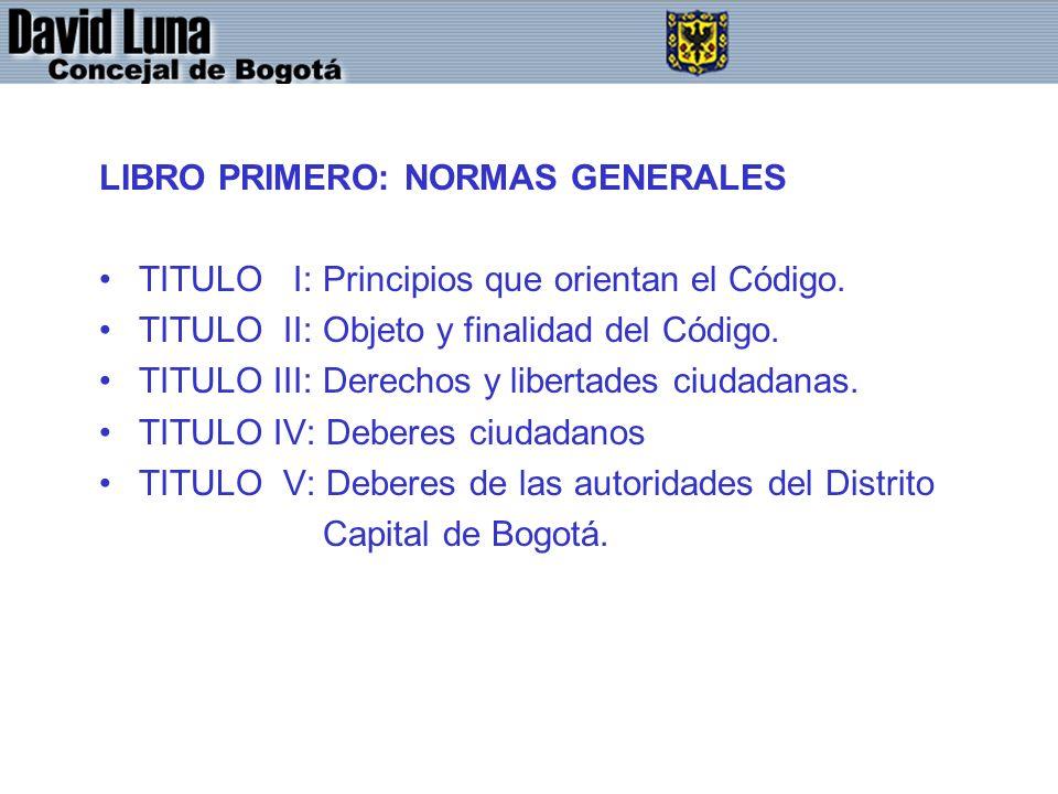 LIBRO PRIMERO: NORMAS GENERALES