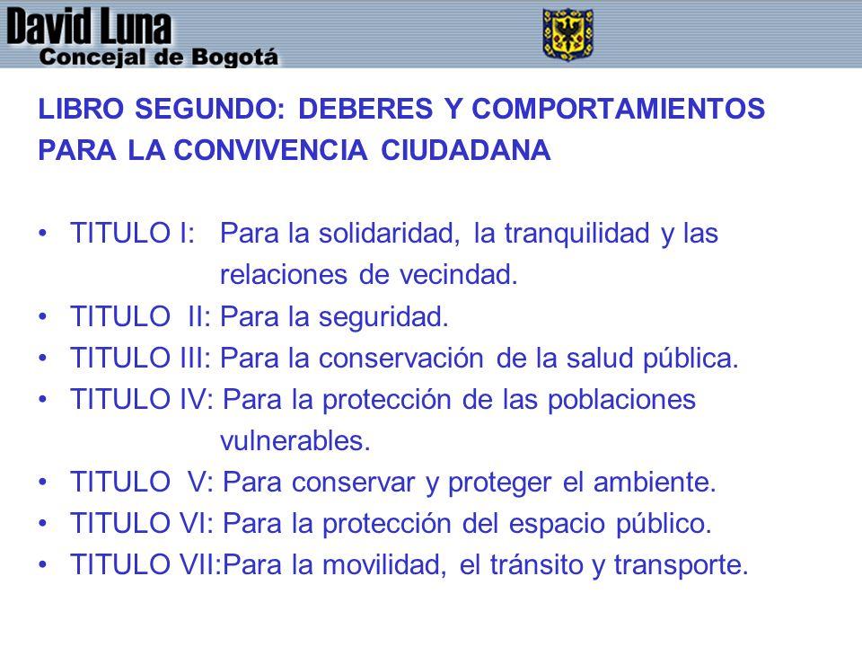 LIBRO SEGUNDO: DEBERES Y COMPORTAMIENTOS