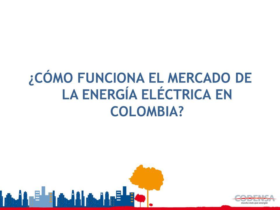 ¿CÓMO FUNCIONA EL MERCADO DE LA ENERGÍA ELÉCTRICA EN COLOMBIA
