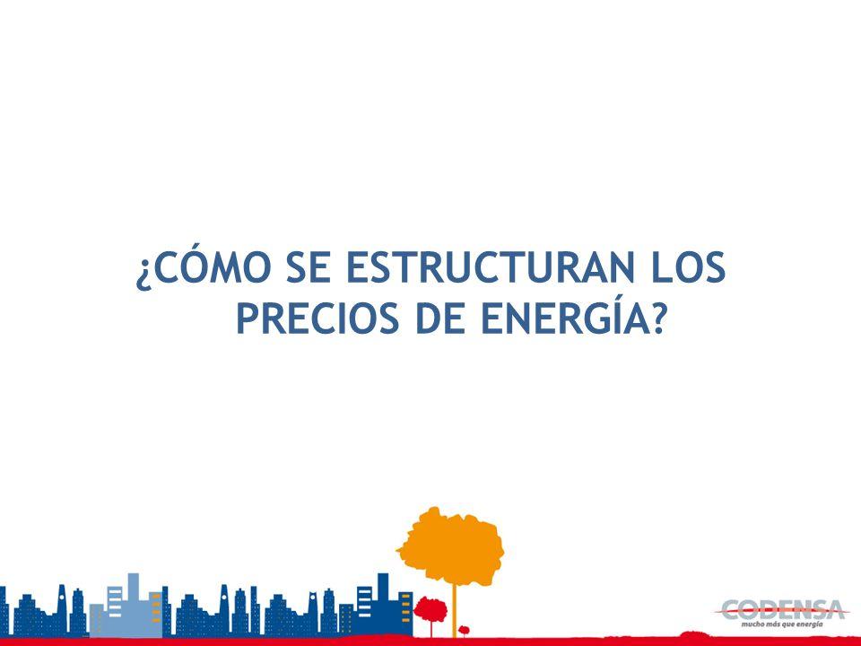 ¿CÓMO SE ESTRUCTURAN LOS PRECIOS DE ENERGÍA