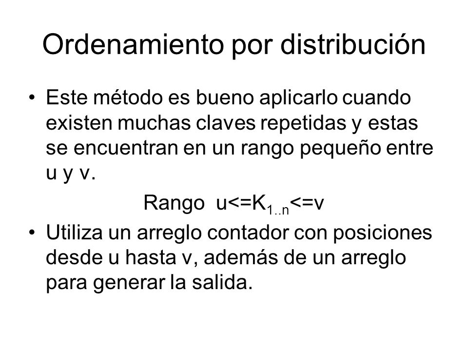 Ordenamiento por distribución