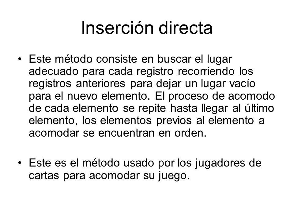 Inserción directa