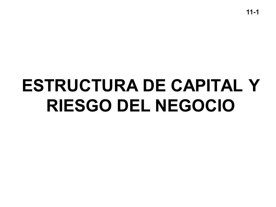 ESTRUCTURA DE CAPITAL Y RIESGO DEL NEGOCIO