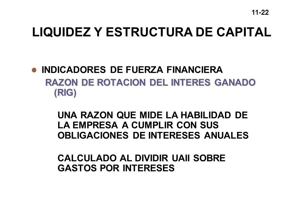 LIQUIDEZ Y ESTRUCTURA DE CAPITAL