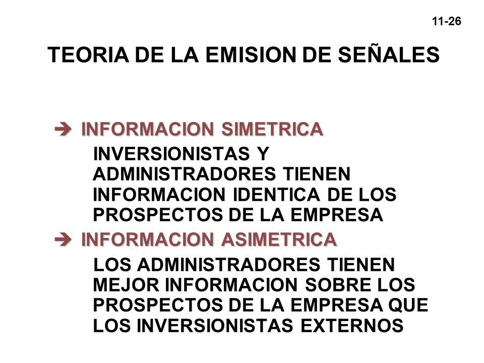 TEORIA DE LA EMISION DE SEÑALES