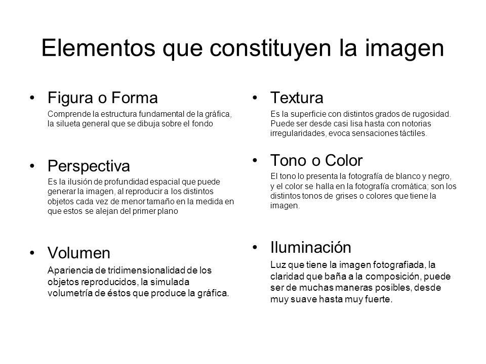 Elementos que constituyen la imagen