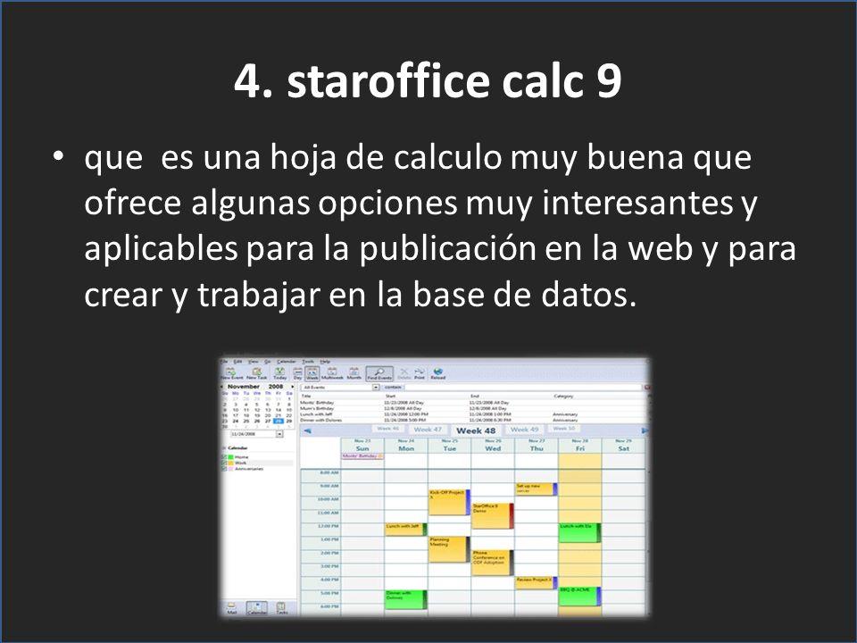 4. staroffice calc 9