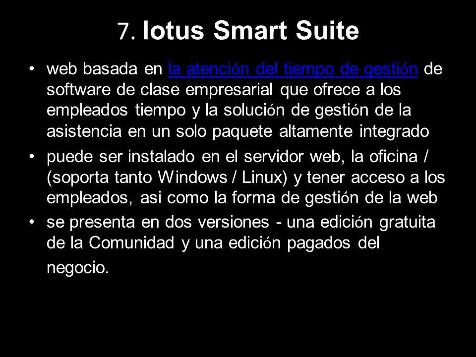 7. lotus Smart Suite