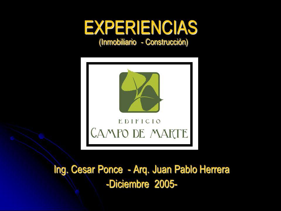 Ing. Cesar Ponce - Arq. Juan Pablo Herrera -Diciembre 2005-