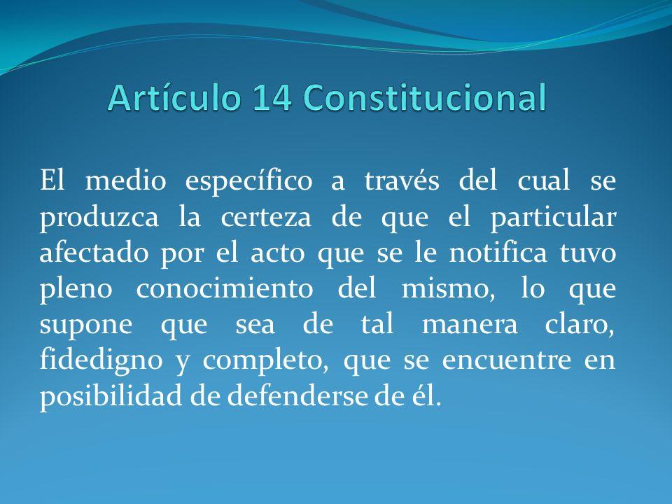Artículo 14 Constitucional