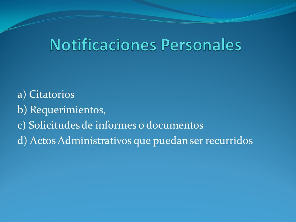 Notificaciones Personales