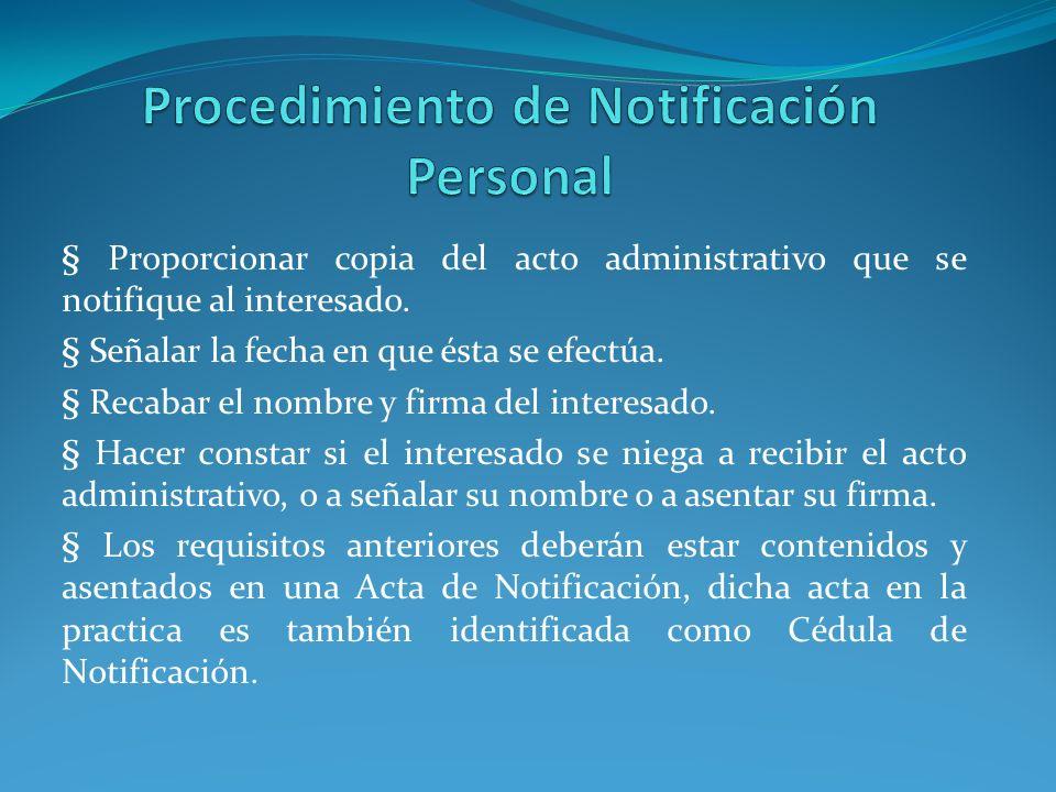 Procedimiento de Notificación Personal