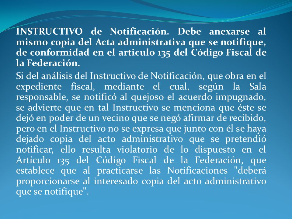INSTRUCTIVO de Notificación